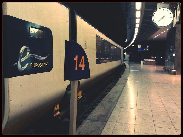 Train Station Train Eurostar Traveling