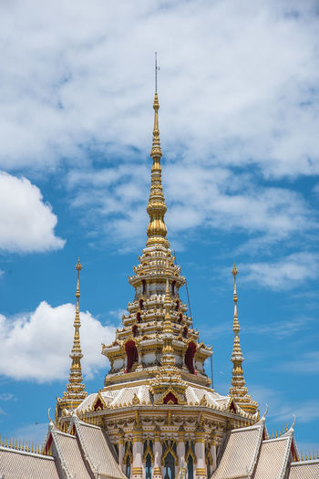 Architecture Building Exterior Built Structure Cloud - Sky Gold Colored History Low Angle View Place Of Worship Religion Sky Spirituality Temple Temple - Building Travel Travel Destinations
