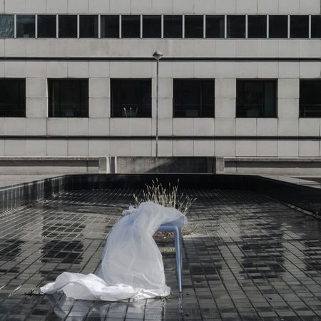 alone like a bridal veil without bride No People Outdoors Architecture Building Exterior Built Structure Veil Bridal Veil Falls Bridal Bride Seat Alone Alone Time Alone In The City  Lonely Lonelyness Minimal Symbol Relationship Death Dead White Silence Silence Speaks