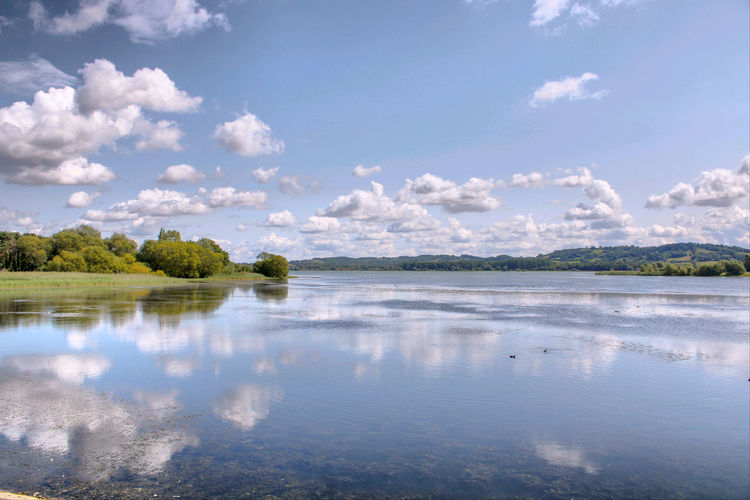 Scenic view of chew  valley lake against sky