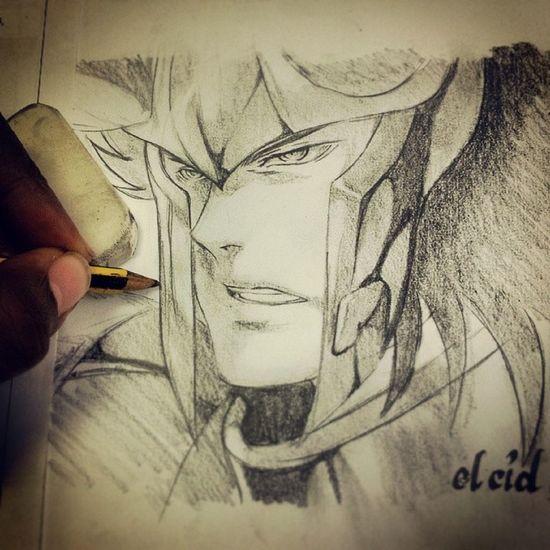 Saintseiya Lostcanvas Elcid Capricorn goldcloth excalibur dessin crayon instadraw manga
