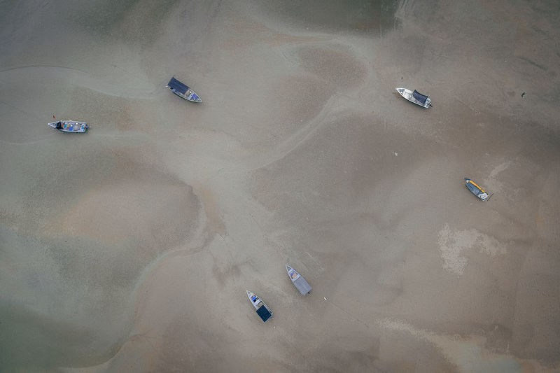 DCIM/100MEDIA/DJI_0510.JPG High Angle View Nature Land Day Transportation Mode Of Transportation Aerial View Environment Outdoors No People Sand Water Land Vehicle Landscape Motor Vehicle Car Scenics - Nature Tranquility