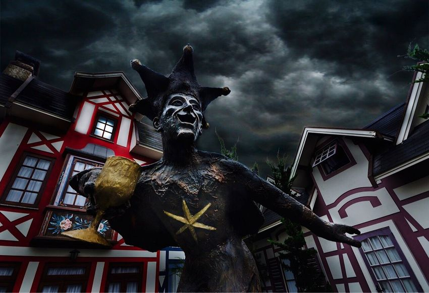Laughing at the storm Teresopolis Riodejaneiro Travel Storm Cloud Statue Grey Rain Scary Tempestade