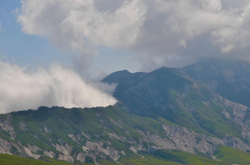 Scenic view of gran sasso d'italia mountain