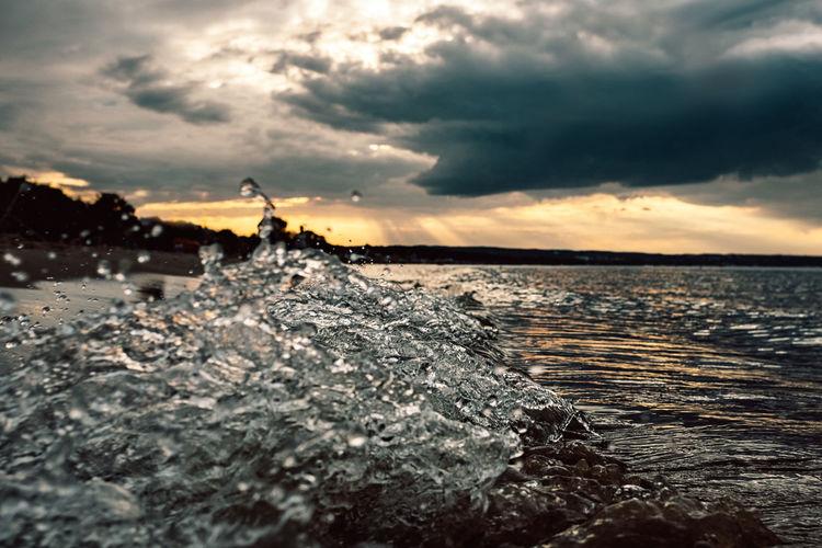 Baltic Cloud Dark Poland Polska Storm Sunset_collection Beach Beauty In Nature Cloud - Sky Gdansk Gdynia Landscape Nature Outdoors Scenics Sea Silhouette Sky Sopot Splash Sunset Water Waterfront Waves