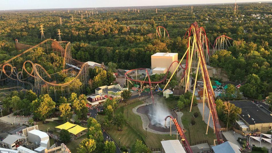 Amusementpark Beast Diamondback Kings Island Mason, Ohio Ohio Roller Coaster Splash Summertime Sunset Vortex