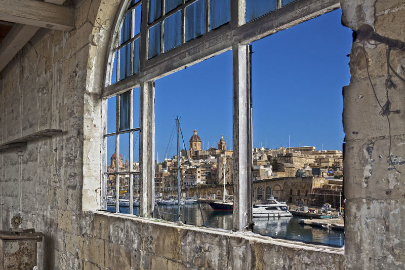 Window Architecture Blue Building Exterior Built Structure City Clear Sky Day No People Outdoors Sky Window