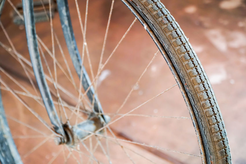 Bicycle Close-up Day Land Vehicle Mode Of Transport No People Outdoors Spoke Transportation Wheel