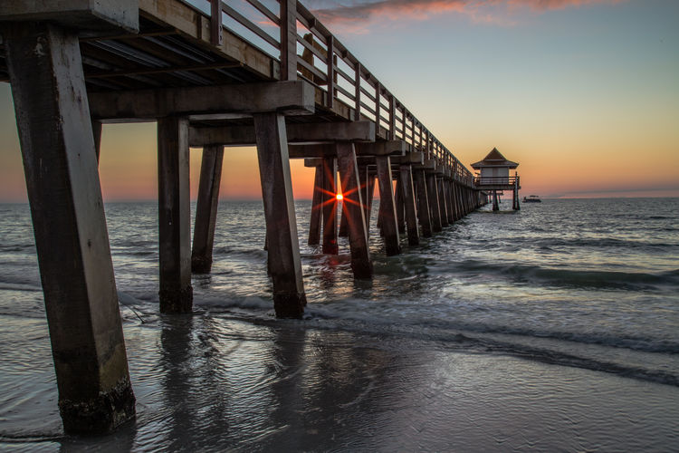 Naples Naples Pier Naples, FL Beach Beauty In Nature Built Structure Florida Gulf Of Mexico Nature Outdoors Pier Scenics Sea Sky Sunset Tranquility Water