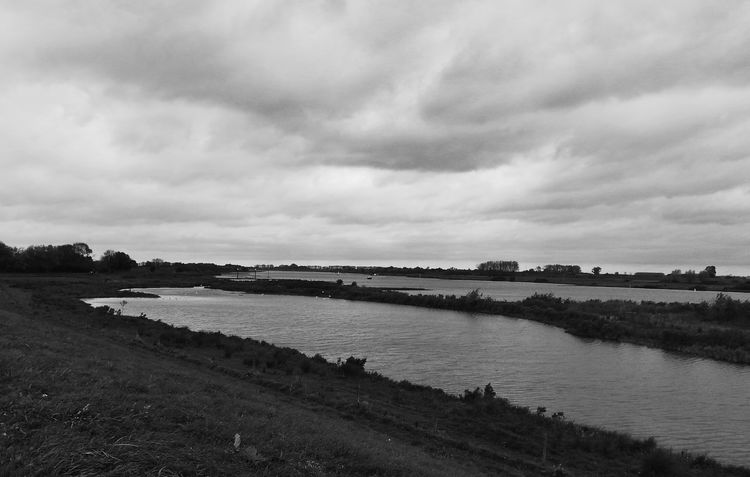 Riversite De Lek in Culemborg Monochrome Black And White Blackandwhite Landscape