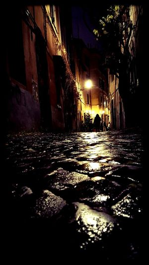 Rome Photography Streetphotography Romebynight Street Beautiful Nightphotography Places Winter Top Hobbyphotography Dark Darkness And Light Photo Night No People Shadow Architecture Outdoors first eyeem photo EyeEm Ready