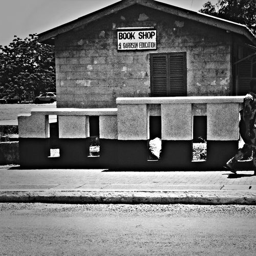 Book shop Accra Blackandwhite TellingtheAfricanstory Ghana