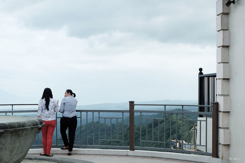 Railing Togetherness Sky People Standing Outdoors Friendship Women Only Women Adults Only Adult People Watching Eyeem Philippines Fujinon Fujifilm_xseries Sooc Straightoutofcamera Fujifilmphilippines Fujifilmph Mirrorlessrevolution Real People Lifestyles People Photography Streetphotography Red Pants