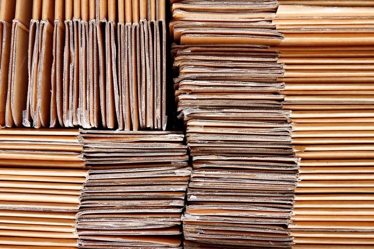 Close up abstract patterns and texture of the old cardboard paper boxes stacked for reuse and recycle concept Reuse Stack Pattern Texture Abstract Cardboard Paper Boxes Fold Flattened Recycle Concept Brown EyeEm Selects Backgrounds Full Frame Stack Arrangement Close-up For Sale LINE Raw Pile