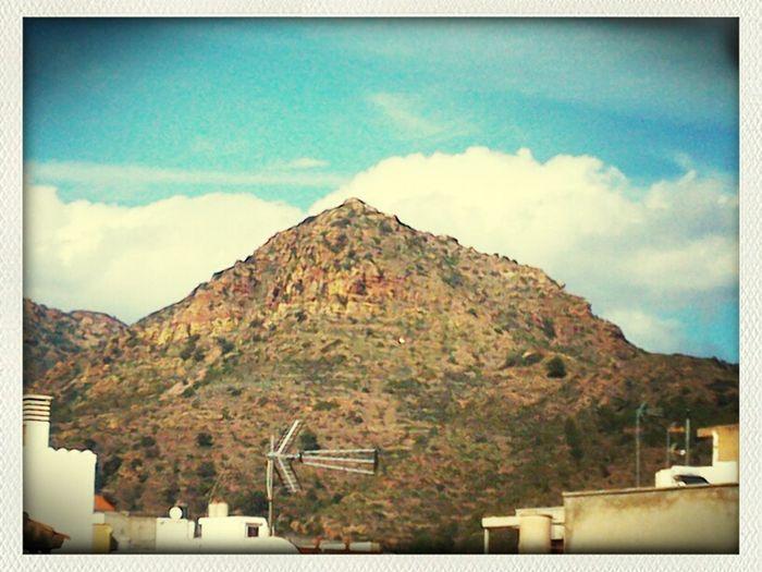 Castillo de la Vall desde mi terraza...