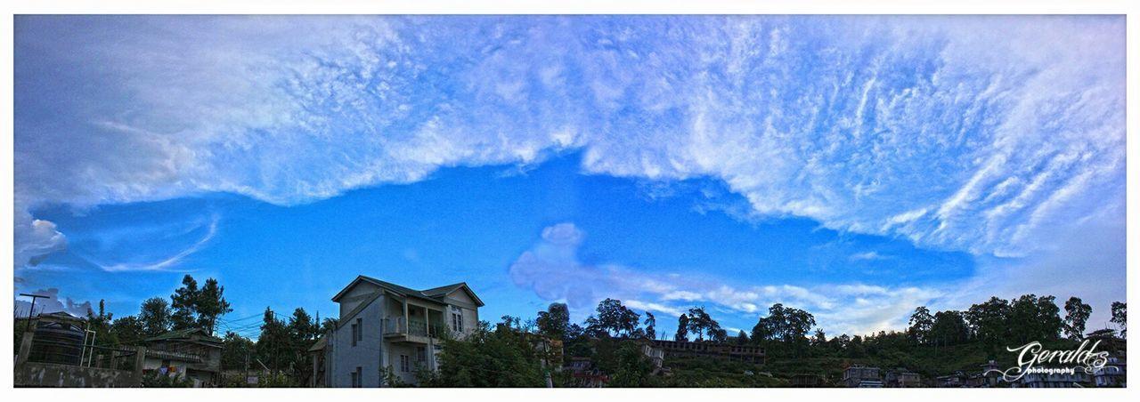 that gap nature painted Sky And Clouds Panorama Shillong Meghalaya