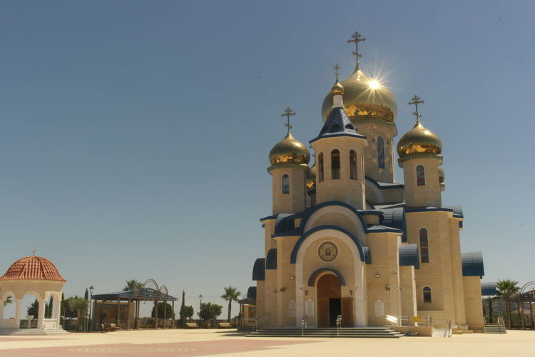 Russian Orthodox Church in Cyprus Chemistart Cross Crucifix Jesus Christ Cross Shape Religious Symbol Bell Tower Christianity Cupola Bell Tower - Tower