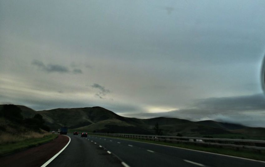 This Morning. The Way Forward Road Mountain Range Cloud - Sky Dramatic Sky Today