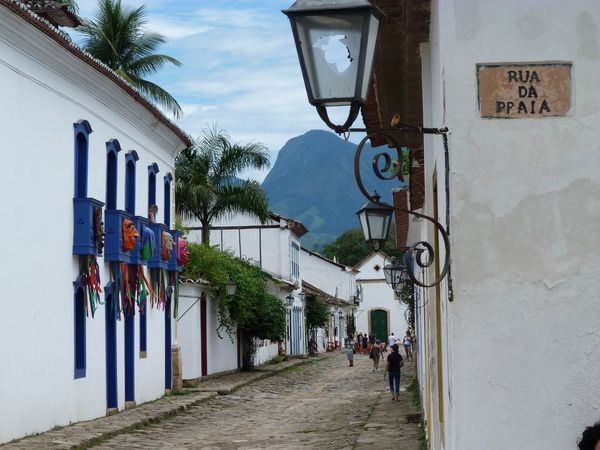 Rua da Praia, Paraty - Rio de Janeiro, Brazil Architecture Building Exterior Built Structure City Cloud Day Lantern Low Angle View Multi Colored Narrow Old Architecture Old Buildings Outdoors Paraty Paraty - RJ Paraty, Brazil Residential Building Residential Structure Ruadapraia Sky Street Light The Way Forward Town