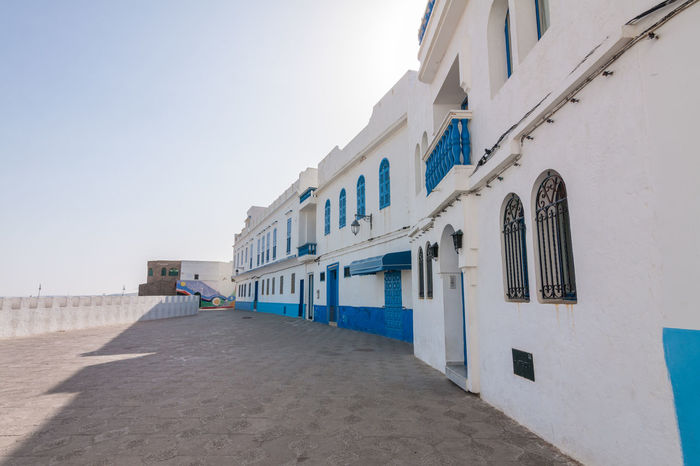 Angle Architecture Asilah Blue Building Exterior Built Structure Color Colorful Colors Day Door Evening Exterior Hanging Out Morning Moroccan Morocco No People Outdoors Painted Perspective Travel Travel Photography Traveling Windows
