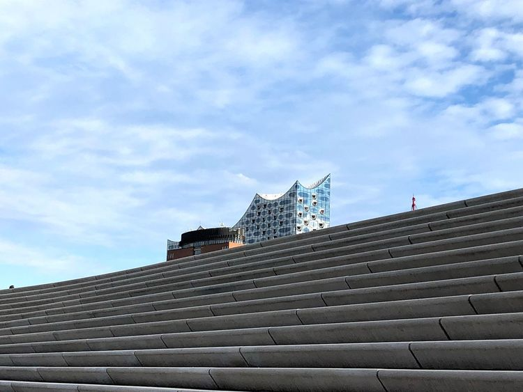 Elbphilharmonie Architecture Built Structure Building Exterior Sky Low Angle View Cloud - Sky Building Day No People City Tourism Tall - High Outdoors Travel Destinations EyeEmNewHere