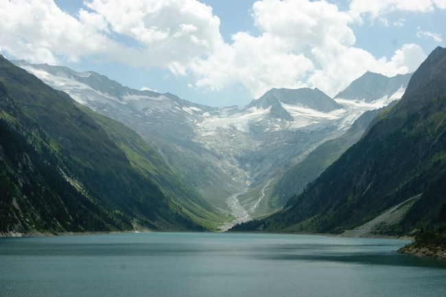 Schlegeis Stausee Zillertal Alps Beauty In Nature Day Lake Landscape Mountain Mountain Range Nature No People Outdoors Range Scenery Scenics Schlegeisspeicher Sky Tranquil Scene Tranquility Water