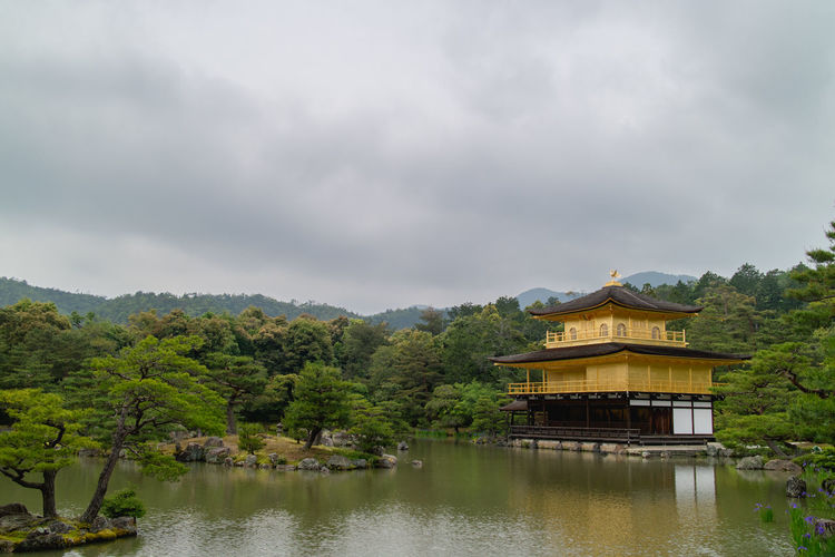 Kinkakuji (Golden Pavilion), Kyoto, Japan. Japan Japanese  Kinkaku-ji Golden Pavilion Zen Temple Architecture Beauty In Nature Building Exterior Built Structure Cloud - Sky Day Golden Pavilion  Kinkakuji Kyoto Lake Nature No People Outdoors Scenics Sky Temple Temple - Building Tranquility Tree Water Waterfront