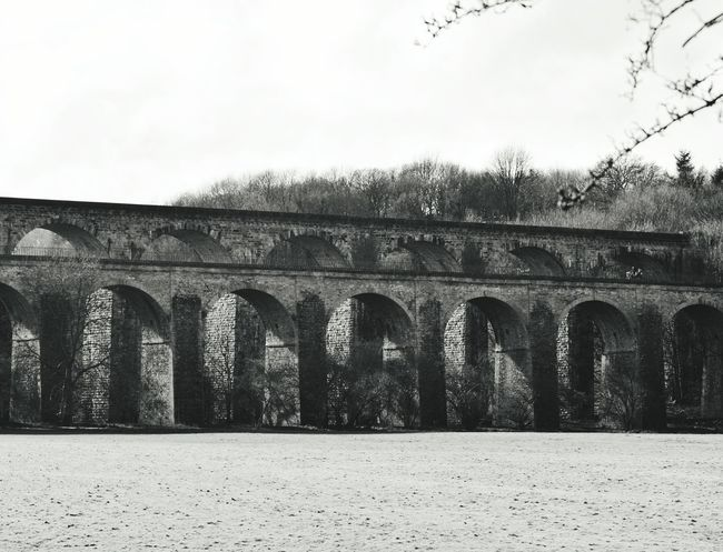 Bnw_captures Black And White Photography Black And White Bridge - Man Made Structure Bridge Aquaduct Arches Architecture Architecture_bw Light And Shadow Wales Chirk Historical Architecture