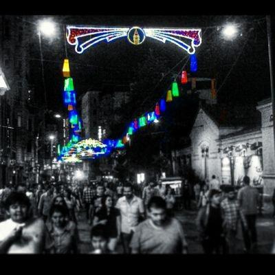 Istanbul Beyoğlu Taksim Istiklalcaddesi gece shoppingfest 2014 isiklandirma like4like like instagramturkiye instacollage instacool instagood instamood for nice night turkey turkiye instamessage colorful street worldcup cumbus