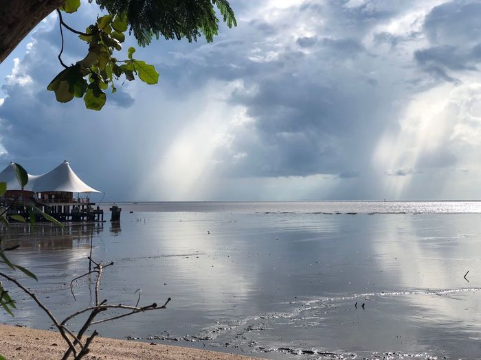 Rain is coming Water Sky Cloud - Sky Sea Beauty In Nature Beach Scenics - Nature Holiday Moments