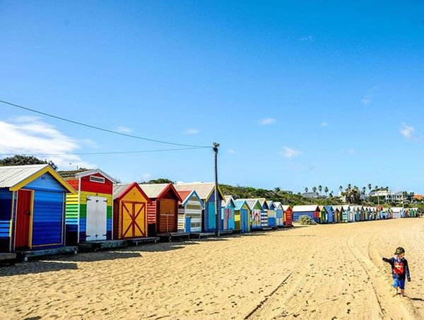 Brighton Beach in Melbourne. Love the explosion of colours of the various bath houses. Traveltheworld Travelgram Instatravel Travel Travelphotography Australia Melbourne Brightonbeach Beach Neverstopexploring  Landscape Landscapephotography Beautifuldestinations ShareTravelPics