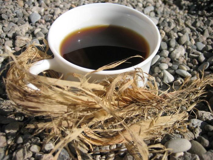 Close-up of black tea