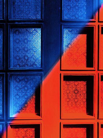Full frame shot of window in house