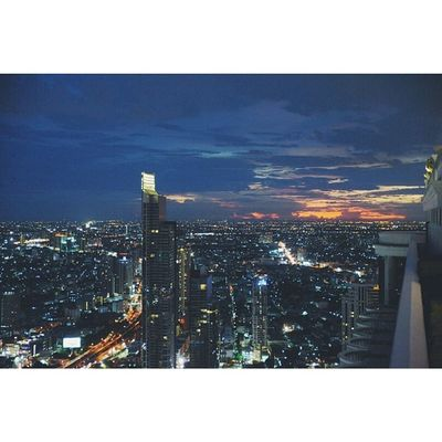 Bangkok Skyline Last Night nightlife asia travel vscocam nightphotography igers mytravelgram travelingram Thailand
