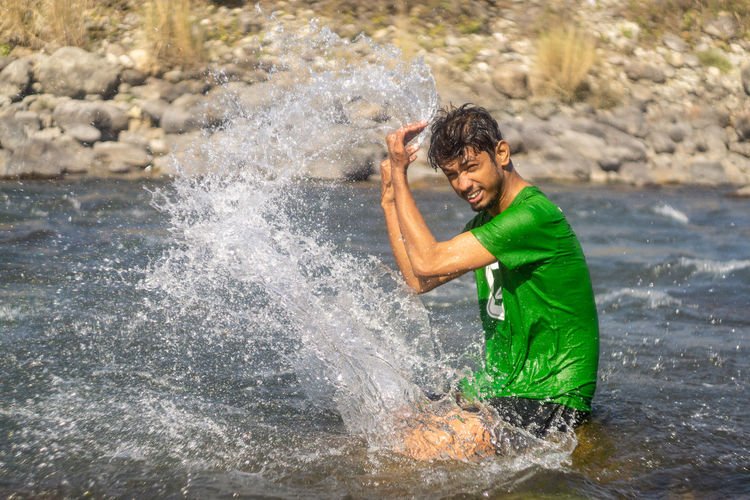 Water Motion Splashing One Person Nature Sea Adult Side View Blurred Motion Emotion Young Adult Sport Outdoors Men Happiness Flowing Water Day Stream - Flowing Water My Best Photo