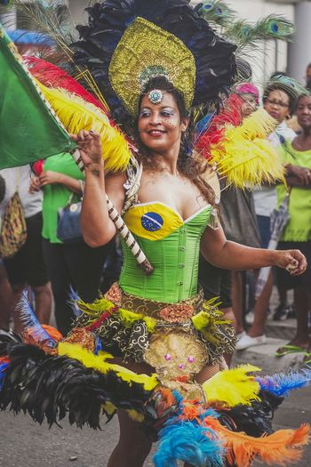 Lundi Gras - Brasilian Dancer Colors Of Carnival Martinique Samba Brasil Caribbean Island Life Streetphotography EyeEm Best Shots - The Streets Colors Carnival Outfit Fun