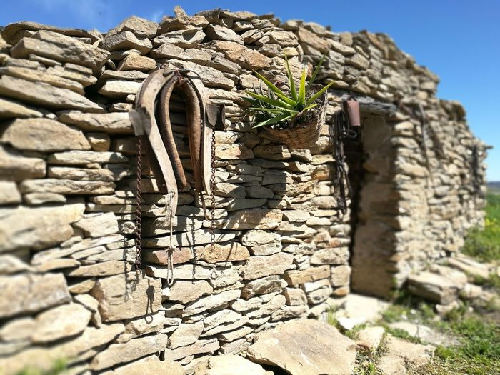 Casotto. Casotto Clear Sky Sunlight Ancient History Stone Material Old Ruin Sunny Architecture Close-up Sky