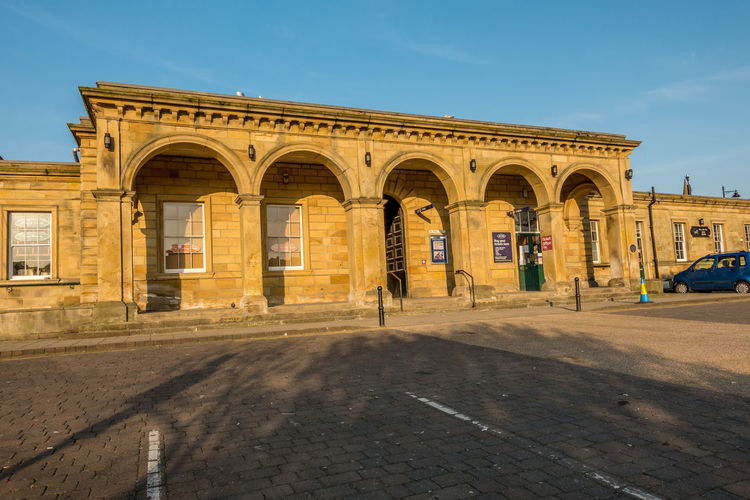 Whitby Whitby View Whitby North Yorkshire North Yorkshire Yorkshire Seaside Town Train Station Train Stations Architecture Built Structure Building Exterior Building Outdoors No People Architectural Column Sunlight Tourism Sky Arch City Day Street