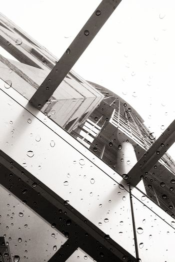 water drops on the glass Architecture Youmobile IPhoneography Black And White