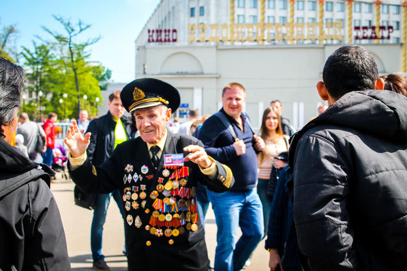 Emotions Grandfather Grandpa Happy May 9 Moscow Old People Portrait Real Russia Russia Tears Veterans Victory Day War