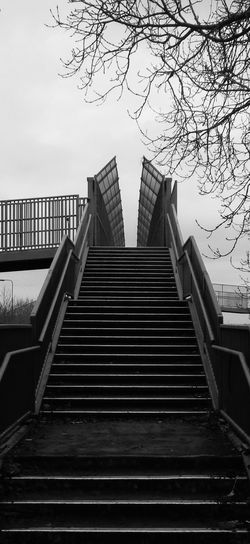 Black And White Photography Bridge - Man Made Structure Diminishing Perspective Leading Lines Man-made Structure No People Shades Of Grey Sky Stairs & Shadows The Way Forward Traffic