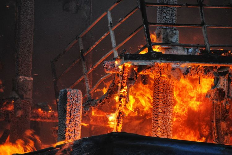 Built structure burning in industry