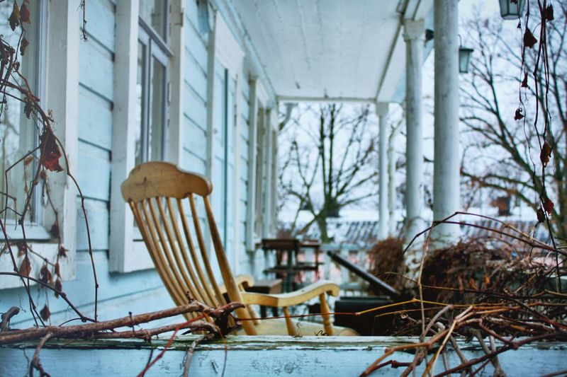 Chair in porch
