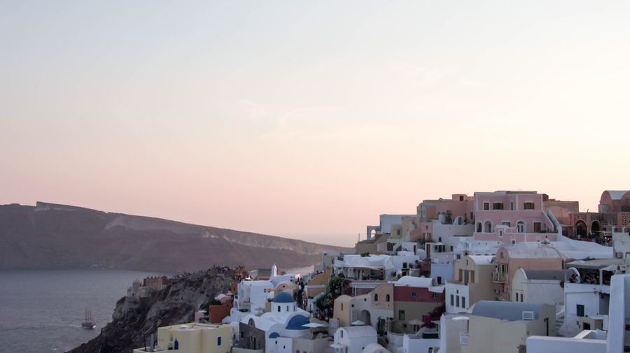 Sunset Minimalism Pastel Sunmertime Island Greece Santorini Building Exterior Architecture Built Structure Sky Building Sunset City Sea Nature My Best Photo