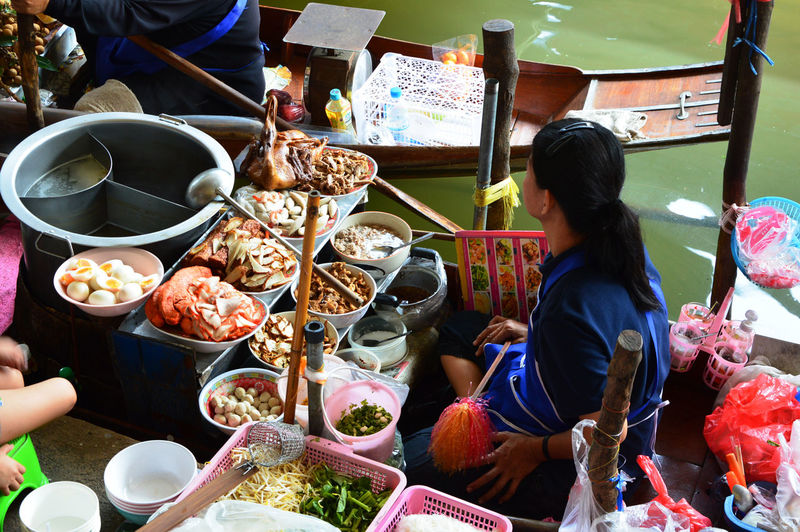 Asian Culture Asian Food Culture Colors Crowd Day Flowting Flowting Market Food Food And Drink Market Outdoors People Thailand Traditional Culture Working
