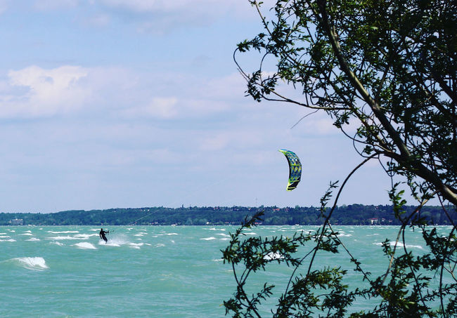 Adventure Balaton Balaton - Hungary Beach Beauty In Nature Blue Blue Sky Extreme Sports Horizon Over Water Kite Kiteboarding Kitesurfing Leisure Activity Lifestyles Motion Nature Scenics Sport Sports Water Wind Windsurfing Windy Windy Day