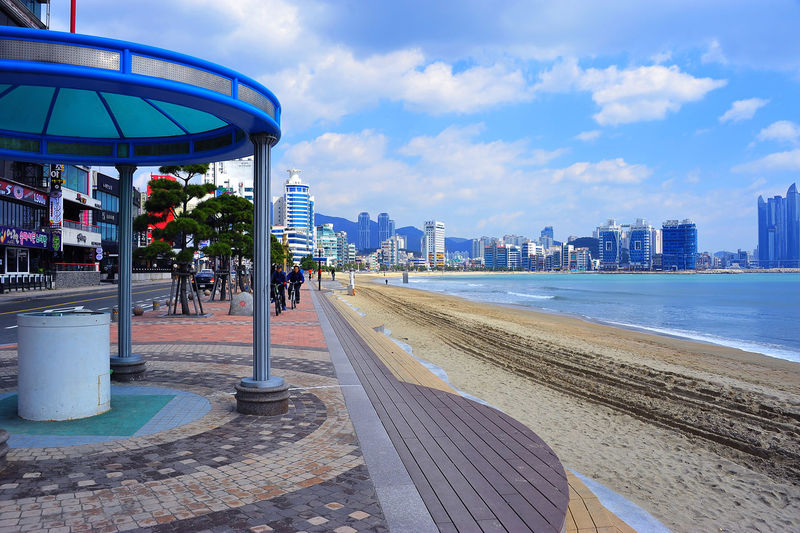 Architecture Built Structure Busan Sea City City Life Cityscape Cloud Cloud - Sky Gwangalli Gwangalli Beach Gwangallibeach Nature Sea Sky The Way Forward Travel Destinations Water