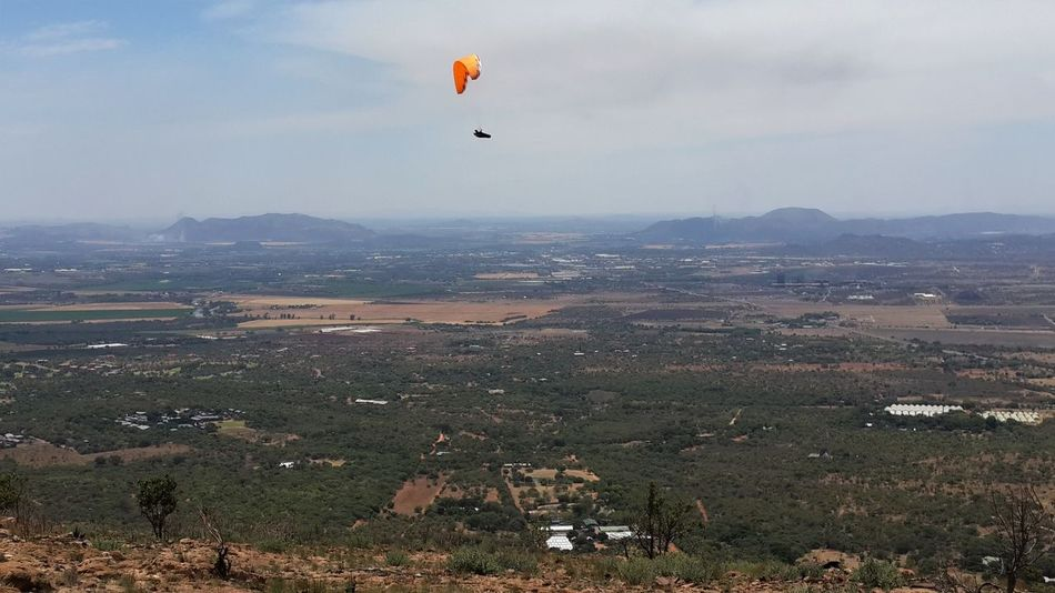 South Africa Adventure Beauty In Nature Extreme Sports Flying Hartebeespoort Mid-air Outdoors Parachute Paragliding Scenics Sport Second Acts