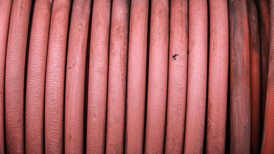Full frame shot of red pipe