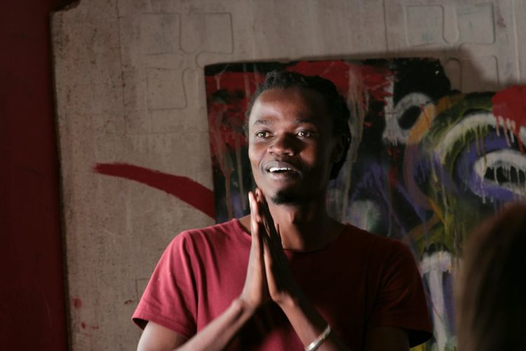 When you meet a musician who helps in growing young talents just like himself.Meet Juliani a musician from Kenya. Portrait Adult One Person Young Adult Indoors  Smiling Day Kenyan Musician EyeEm Best Shots KenyanMade Musicmeetsphotography